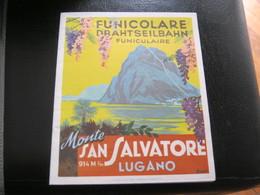 DEPLIANT MONTE SAN SALVATORE LUGANO - Tourism Brochures