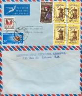 D- [500339] Lettre-Afrique Du Sud 1965 -  Sciences, Personnages, Fleurs - Afrique Du Sud (1961-...)