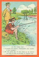 """CPA Illustrateur A Gaillard """" ça Ne Mord Pas """" Femme à La Peche - Humor"""