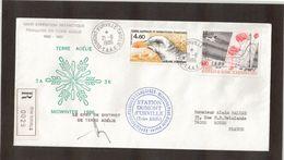 B1 - TAAF PA92 Et PA95 Du 21.6.1986TERRE ADELIE -Recommandé- Beau Cachet MIDWINTER Et Signature Du Chef De District. - French Southern And Antarctic Territories (TAAF)