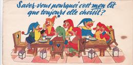"""Dépliant Publicitaire Pour Des Matelas EPEDA - Carte Articulés En 3D Avec Les 7 Nains """"Galerie Jean Meubles"""" - Advertising"""