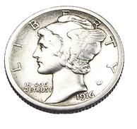 One Dime - Etats Unis - 1916 S - Argent - TB+ - - Émissions Fédérales