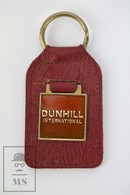 Vintage Dunhill International Red Leather And Enamel Plate Keyring - Llaveros