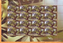 Croatia 2017 Y PUMED Flora Lune Olives Sheet MNH - Croatia