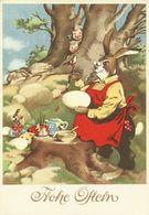 AK Ostern Hase Als Mensch Bemalt Eier Color #2394 - Pasqua