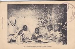 MAROC---RARE--RABAT--école Koranique Indigène à RABAT--voir 2 Scans - Rabat