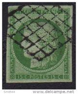 France N° 2 Ceres 15c Vert - 1849-1850 Cérès
