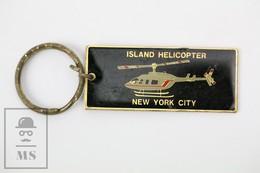 Island Helicopter New York City NYC Keychain Key Ring Souvenir - Llaveros