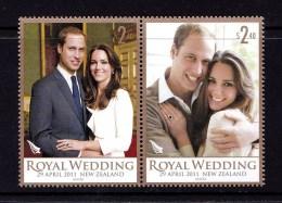 New Zealand 2011 Royal Wedding Set Of 2 MNH - New Zealand