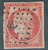 France N° 5a Ceres 40 C Orange Vif - 1849-1850 Cérès