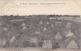 MAROC---MARRAKECH--( Tampon TELEGie MILITre  23 Aout 12 )-village Des Pauvres à L'intérieur De La Ville--voir 2 Scans - Marrakech