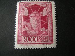EGEO - RODI, 1932 -  Sass. N. 56, Cent. 5, MNH** - Ägäis
