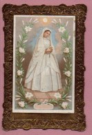 Images Religieuses , Canivet  : Communiante (1880) - Devotion Images