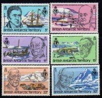 """Antarctique Britanique N° 90 / 95 XX 150ème Anniversaire De La RoyalGeographical Society"""" Les 4 Vals  Sans Charnière, TB - British Antarctic Territory  (BAT)"""