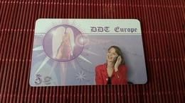 Prepaidcard DDT Europe Used 2 Scans - Phonecards