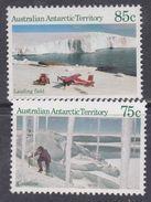 Antarctique Australien N° 66 + 67 XX Partie De Série Courante :Vues Du Territoire, Les 2 Valeurs Sans Charnière TB - Unused Stamps