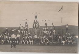 15 - AURILLAC - Société De Gymnastique La Cantalienne - Carte-photo - Fête Du Stade 1924 - Pyramide - Aurillac