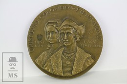 Christopher Columbus & Filipa Moniz - Portuguese 500 Anniversary Medal - Royal/Of Nobility