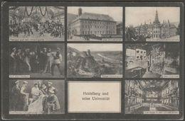 Mehrbild, Heidelberg Und Seine Universität, C.1910s - Vogt AK - Heidelberg