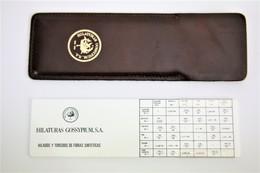 Vintage Spanish Tailor Slide Rule With Leather Case - Hilaturas Gossypium - Other