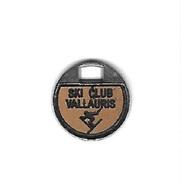 Jeton De Caddie  Argenté  Ville  Sport  Ski  Club  VALLAURIS  ( 06 ) - Trolley Token/Shopping Trolley Chip