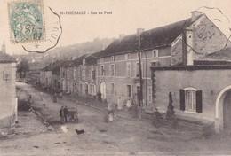 SAINT  -  THIEBAULT ,,,,, RUE Du  PONT,,,,VOYAGE  1907,,,,CACHET CONVOYEUR,,,,,  Rare,,, - Autres Communes