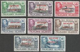 Falkland Islands Dependencies (South Shetlands). 1944-45 KGVI. MH Complete Set. SG D1-8 - Falkland Islands