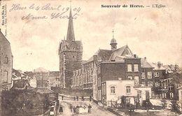 Souvenir De Herve - L'Eglise (animée, 1904) - Herve