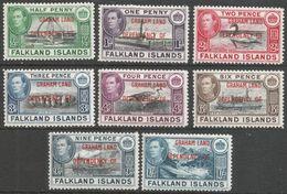 Falkland Islands Dependencies (Graham Land). 1944-45 KGVI. MH Complete Set. SG A1-8 - Falkland Islands