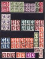 Australia - Queen Elizabeth Predecimal & Decimal Multiples Used - Sheets, Plate Blocks &  Multiples