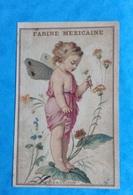 Farine Mexicaine Tarare Barlerin Chromo Bourgerie Angelot Papillon Marguerite éffeuillée - Other