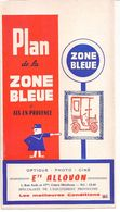 FRANCE/ANCIEN PLAN TRYPTICLE  DE ZONE BLEUE(1964)DE LA VILLE D'AIX EN PROVENCE/  NOMBREUSES PUBLICITES AURECTO ET VERSO - Europe