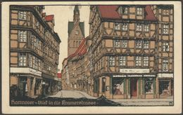 Blick In Die Kramerstrasse, Hannover, 1928 - Hartmann & Merten AK - Hannover