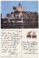 India 1988 Postcard Pune - B.K.S. Iyengar Yoga Institute, To U.S. - India