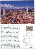 Malaysia 1991 Postcard Kuala Lumpur, To U.S., 40c. Cebego Stamp - Malaysia