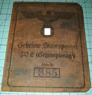 WW2 German Geheime Staatspolizei, GESTAPO,  ID, Document Ausweis, Not Original (?) - 1939-45