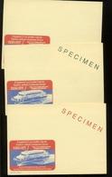 Jetfoil Vers GB   SPECIMEN  3 Différents  Thème Bateau Et Technologie - Werbepostkarten