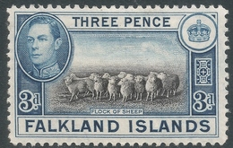 Falkland Islands. 1938-50 KGVI. 3d MH. SG 153 - Falkland Islands