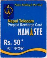 GSM MOBILE Rs.50 RECHARGE PREPAID USED MINI CARD NEPAL TELECOM 2017 NEPAL - Nepal