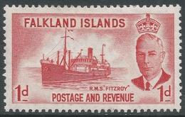 Falkland Islands. 1952 KGVI. 1d MH. SG 173 - Falkland Islands
