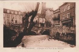LA CANOURGUE L'Urugne Et La Tour De L'Horloge 740F - France