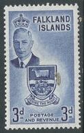 Falkland Islands. 1952 KGVI. 3d MH. SG 176 - Falkland Islands