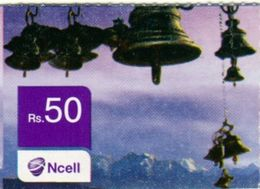 GSM MOBILE PHONE  Rs.50 PREPAID USED MINI RECHARGE CARD NCELL MOBILE NEPAL - Nepal
