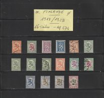FINLANDE - 1918:1929  - 16 Timbres Divers  -  Oblitéré & Neuf *  - En L'état.. 2 Scannes - Used Stamps