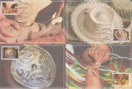 Polynésie Française 2004 Artisanat 713-716. 4 Cartes - Cartoline Maximum