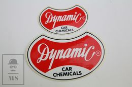 Vintage Dynamic Car Chemicals Adverting Stickers - Pegatinas