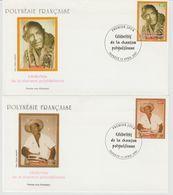 Polynésie Française 2001 Célébrités De La Chanson 638-641 - FDC