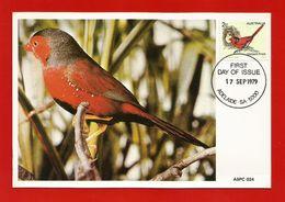 Australien 1979  Mi.Nr. 687 , Crimson Finch - Maximum Card - First Day Of Issue 17 Sep 1979 - Maximum Cards
