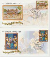 Polynésie Française 2002 Polynésie En Fete 680-681 - FDC