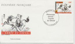 Polynésie Française 2002 Année Du Cheval 656 - FDC